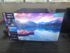 R60, 65'' Hisense 4K TV, model 65A7100FTUK, to include box no. 6