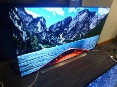 R16, 65'' LG 4K UHD OLED TV, model OLED65BX6LB, to include box no. B14