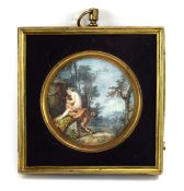 18th Century French School, Wildlife and Nymphs in a Bucolic landscape, unsigned,