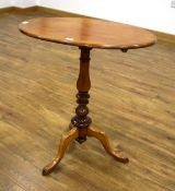 A late 19th century mahogany occasional/wine table,