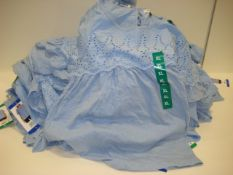 Bag containing 40 ladies tops by Jachs Girlfriend of New York in light blue , various sizes
