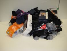 Bag containing socks, gents underwear, ladies bra, etc by various brands including Ralph Lauren,
