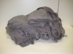 Bag containing quantity of grey hand towels and bath towels