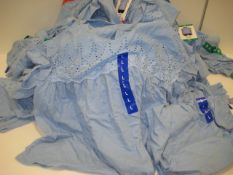 Bag containing 40 Jachs of New York ladies tops in light blue, sizes ranging from M - XL