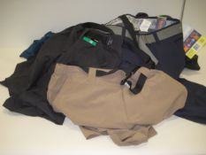 Bag containing gents shorts, trousers and jeans by Wear First, Jerry, etc in various sizes,