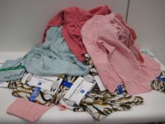 Bag containing 40 ladies tops by Hilary Radley, Vintage America and Jachs of New York in various