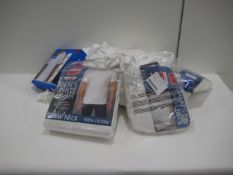 Bag containing Kirkland and Nautica gents white t-shirts, sizes ranging from M - L