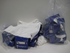 2 bags of Champion white t-shirts in various sizes