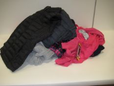 Bag containing various items of ladies clothing