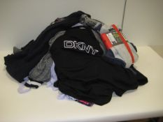 Bag containing ladies and gents lounge wear with small quantity of gents jumpers