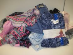 Bag containing ladies loungewear to include Superdry jogging bottoms plus sleepwear by various