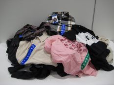 Bag of ladies tops by Jachs of New York, Kirkland, DKNY and Vintage America in various sizes,