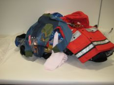 Bag containing children's clothing incl. dressing up clothes, t-shirts, swim wear, etc.