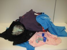Bag containing 40 t-shirts in various colours by Jessica Simpson, Fila and Replay with Buddha