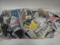 Bag containing large quantity of various mobile covers and cases