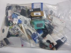 Bag containing quantity of various electrical related items and devices