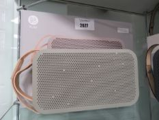 Bang & Olufsen A2 portable bluetooth speaker with box and power supply