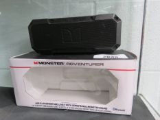 Monster Adventurer portable bluetooth speaker with box