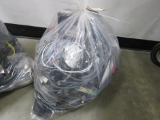 Bag of loose electrical components, cabling and power supplies