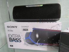 Sony SRS-XB32 bluetooth speaker with box