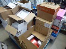 Pallet of assorted envelopes and other office stationery