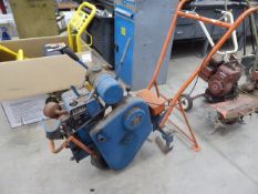 Colwood Landmaster petrol powered cultivator with extra attachment