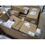 A large pallet box containing TIR wall lights, strip lights, tubes, indoor lights, outdoor lights