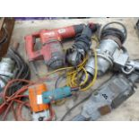 5 assorted heavy duty drills and grinders