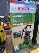 Boxed Bosch Advance Aquatech 140 pressure washer