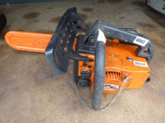 Oleomac orange petrol powered chainsaw