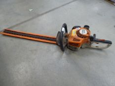 Stihl HS45 petrol powered hedge cutter