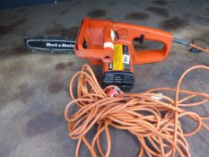 Black & Decker electric chainsaw