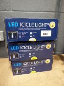 3 boxes of LED icicle lights