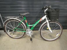 Salcano green and white ladies bike