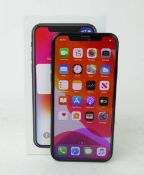 iPhone X 64GB Space Grey smartphone with box and charger (A1901)