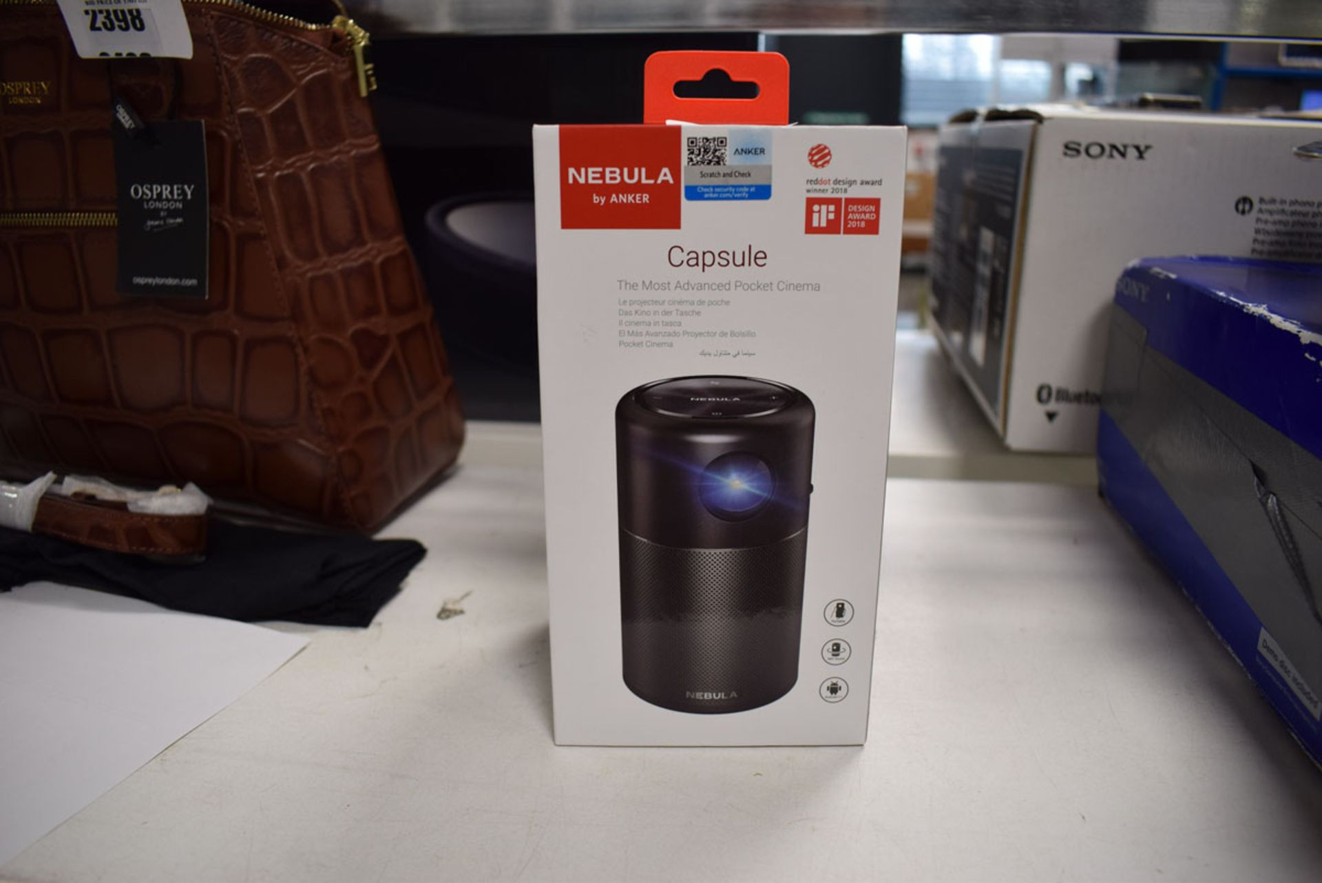 Anker Nebula Capsule Android 7.1 pocket cinema projector and speaker with box