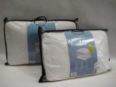 2 bagged Snuggle Down breathable memory foam pillows