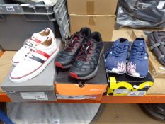 Boxed pair of Merrell trainers (used), size 8, with boxed pair of ladies Adidas trainers, size 6,
