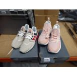 2 boxed pairs of ladies New Balance trainers size 6