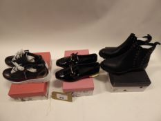 3 pairs of Moda in Pelle shoes to include Beena leather trainers size EU 40, Francois loafers size