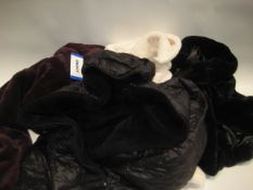 4 ladies coats, 1 by DKNY, 2 by Andrew Marc and 1 by 32 Degree Heat (3 are faux fur, 1 faux fur