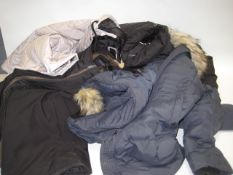 4 various winter weight jackets by Weatherproof, Heritage and Andrew Marc in sizes ranging from