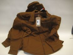 4 gents brown shirt style jackets by Jackson New York in sizes ranging from M - XL