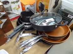 Quantity of mixed used pans