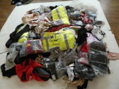 Half a stillage of mixed ladies and men's clothing