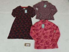 Selection of Weird Fish clothing to include markle jersey dress size 10, Emara fleece size 10, and
