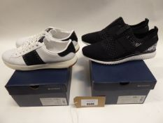2 pairs of Cole Haan trainers to include Grand Motion Stitchlite slip on sneakers siz 10 and