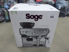(TN49) Boxed Sage Barista Express coffee machine