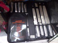 Samurai knife set with case
