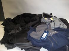 7 gilets and coats in black, grey and blue by Callaway, Berghaus, 32 Degree Heat, etc. (some tagged)